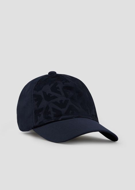 Baseball cap with all-over logo