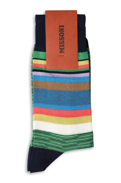 MISSONI Long socks Green Man - Front
