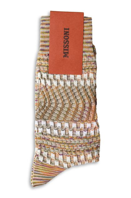 MISSONI Short socks Khaki Man - Front