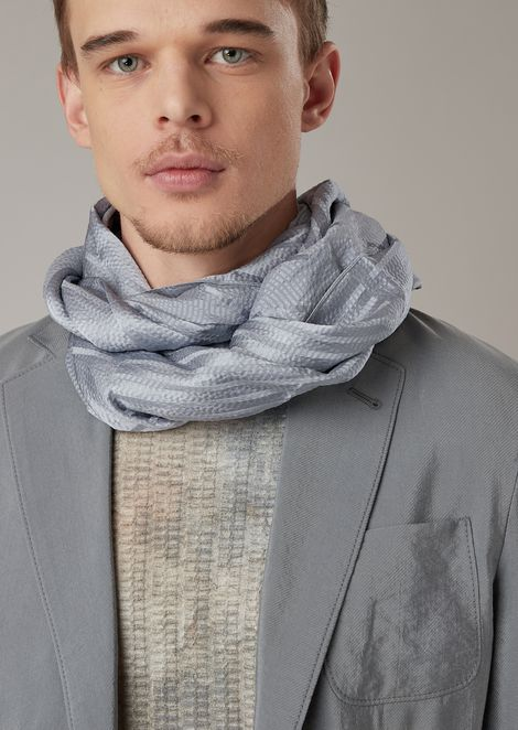 Textured silk fabric stole