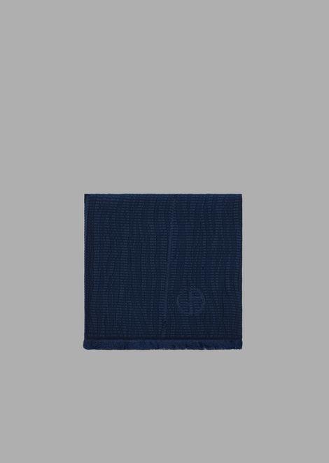Textured silk fabric stole