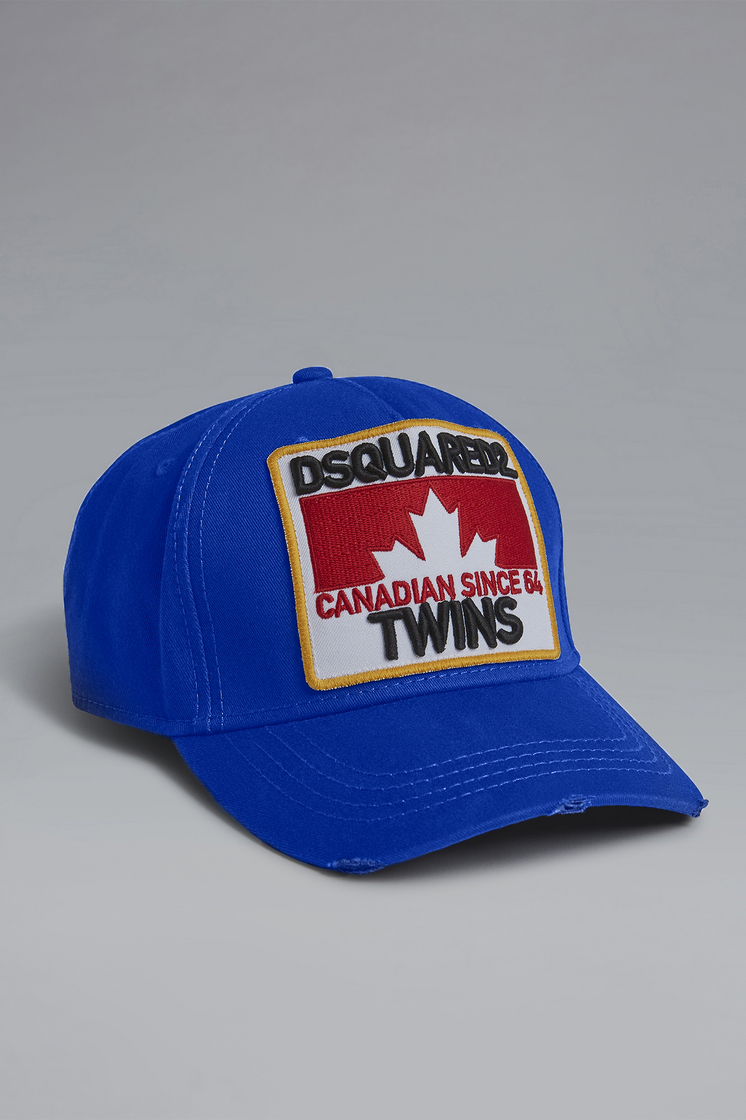 56985243fee Dsquared2 Dsquared2 Twins Baseball Cap Bright Blue ...