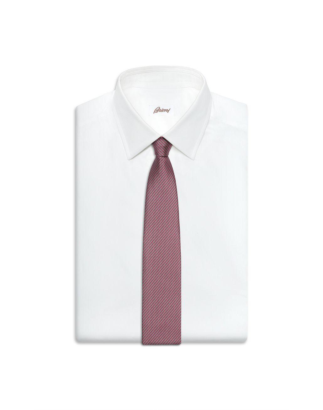 BRIONI Red and Navy Blue Micro Design Tie Set Tie & Pocket Square [*** pickupInStoreShippingNotGuaranteed_info ***] e