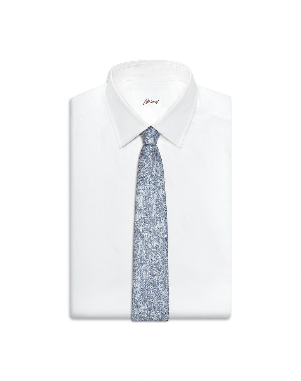 BRIONI Bluette Paisley Tie Tie Man e