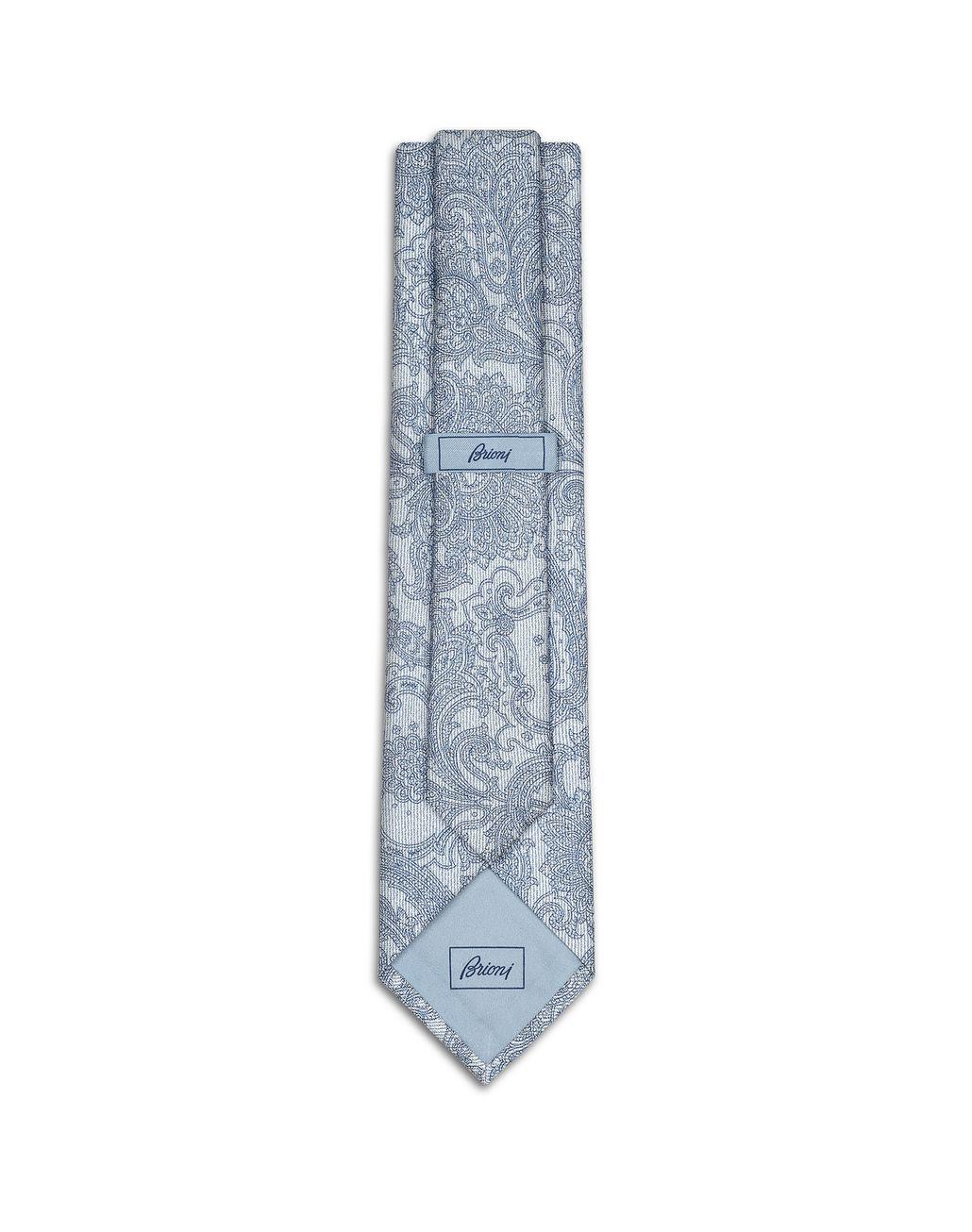 BRIONI Bluette Paisley Tie Tie Man r