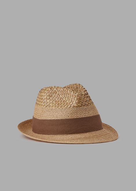Woven hemp fedora hat
