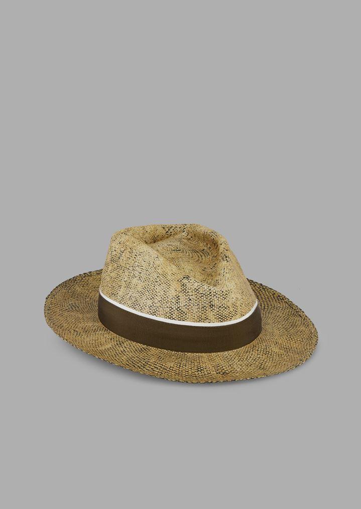 Papier fedora hat in paper material with canvas ribbon  6772ce180f6d