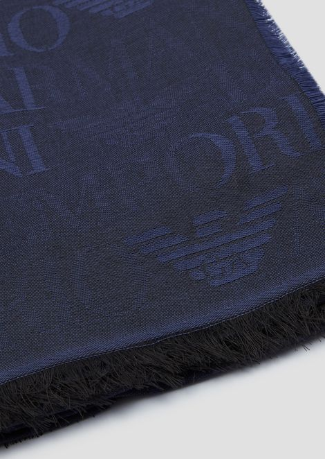 Modal blend stole with logo