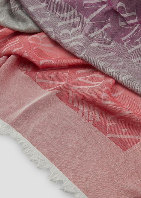 Fabric headscarf with all-over logo