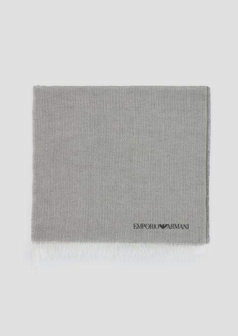 Stole in modal and linen with screen-printed logo