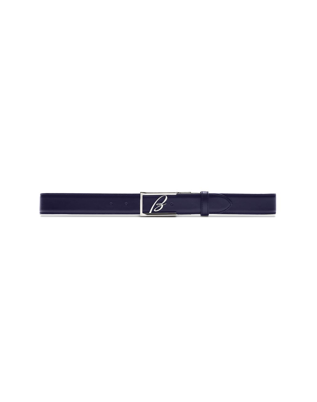 BRIONI Black and Blue Reversible Logoed Belt Belt Man d
