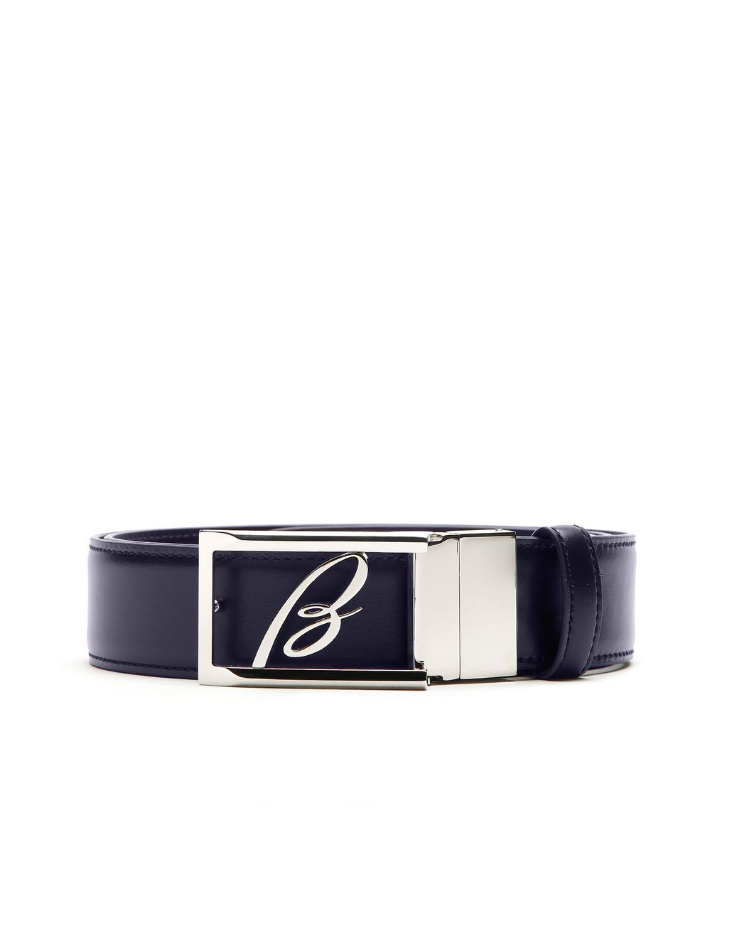 BRIONI Black and Blue Reversible Logoed Belt Belt Man e