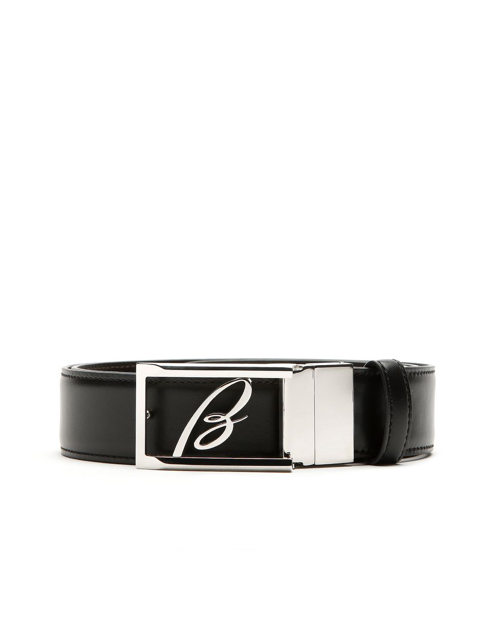 BRIONI Black and Blue Reversible Logoed Belt Belt Man r