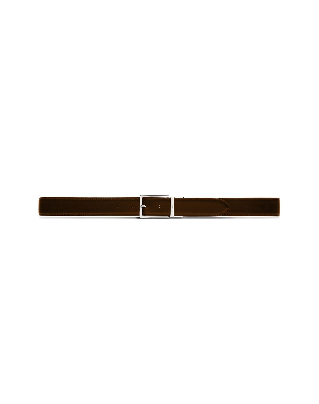BRIONI Black and Brown Reversible Belt Belt Man d
