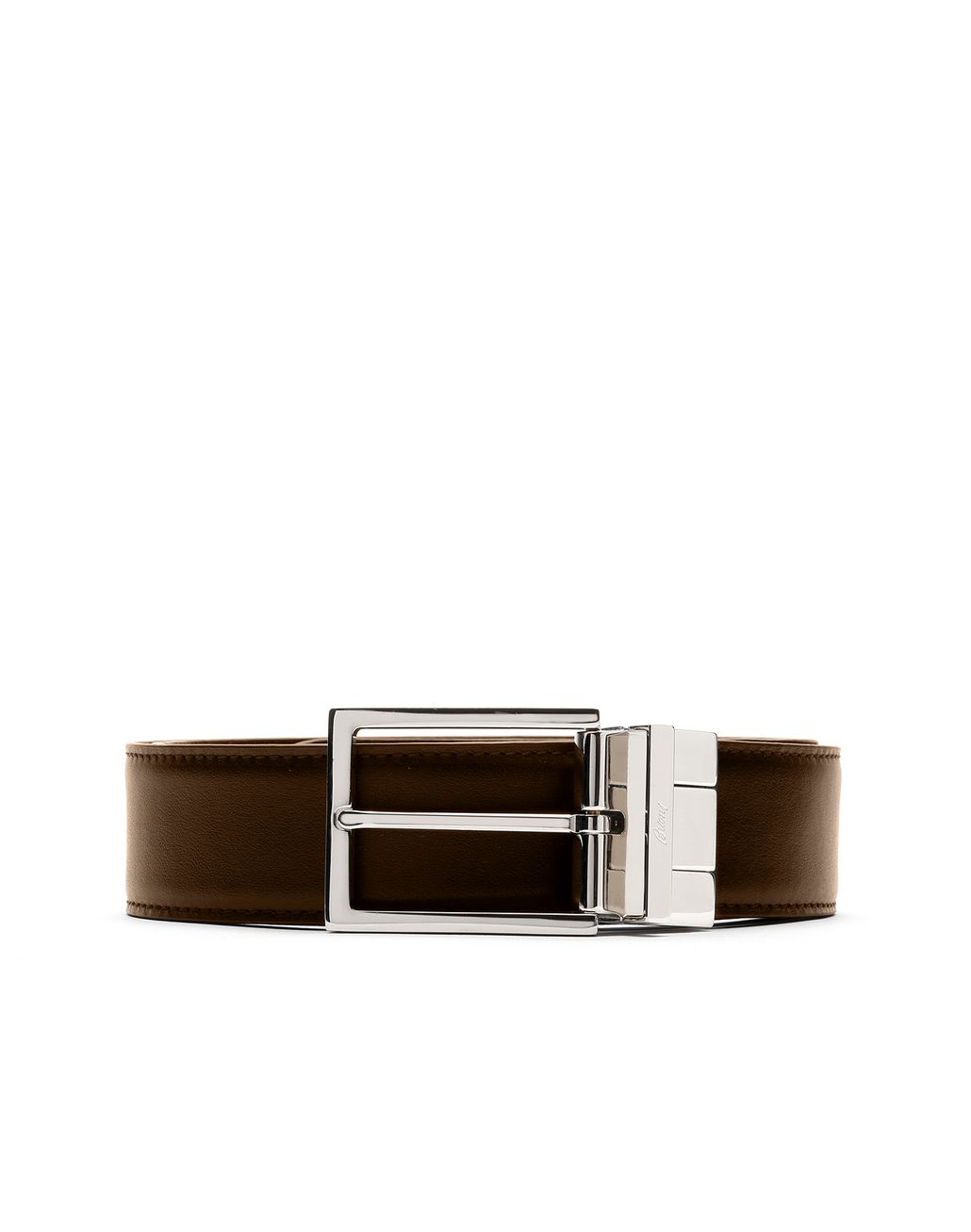 BRIONI Black and Brown Reversible Belt Belt Man e