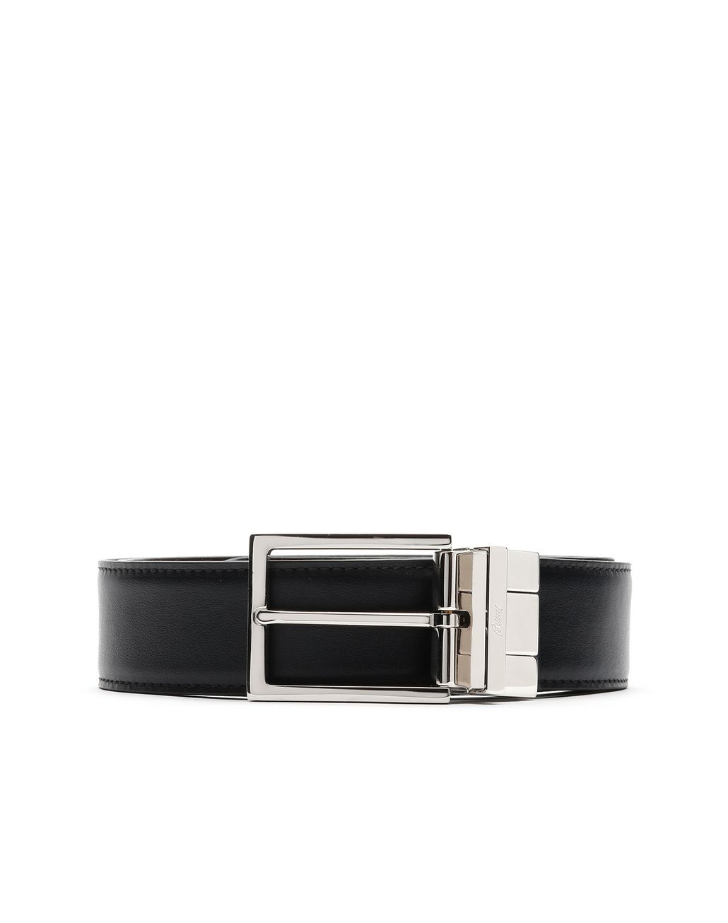 BRIONI Black and Brown Reversible Belt Belt Man r