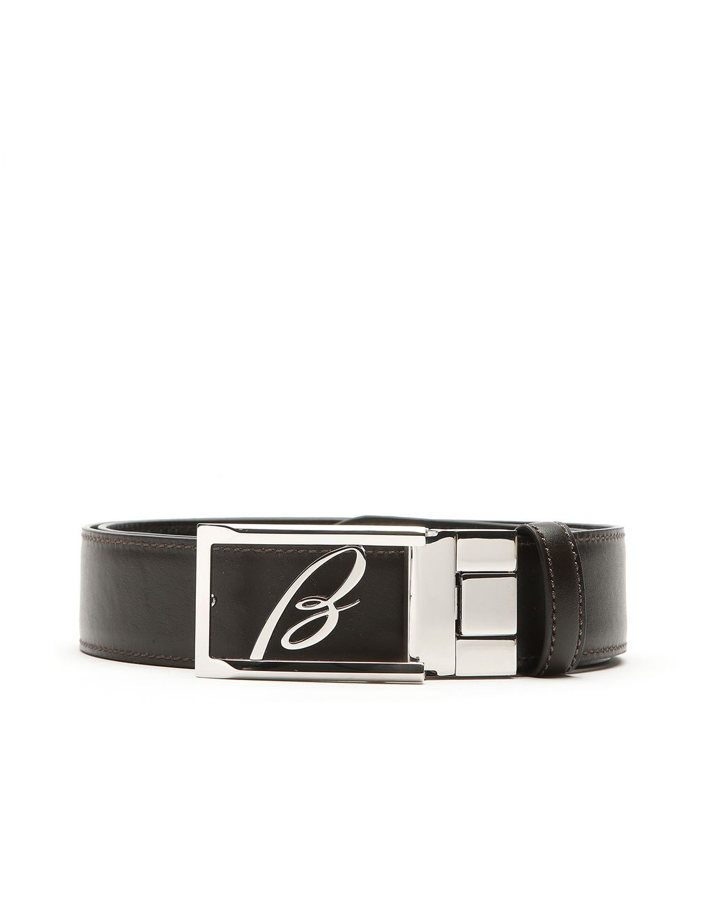 BRIONI Black and Brown Reversible Logoed Belt Belt [*** pickupInStoreShippingNotGuaranteed_info ***] e