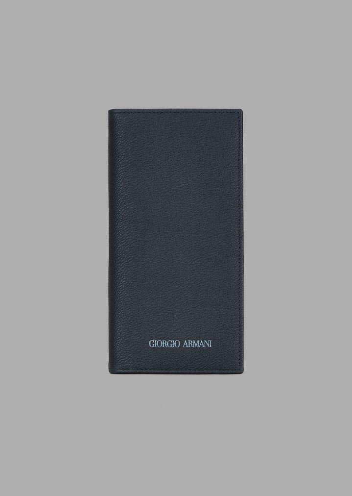 0dc6e1d12f Vertical wallet in grained calfskin