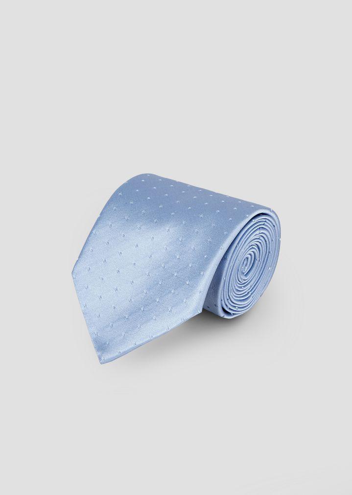 5a22e2c34397 Pure silk tie with polka-dot jacquard motif   Man   Emporio Armani