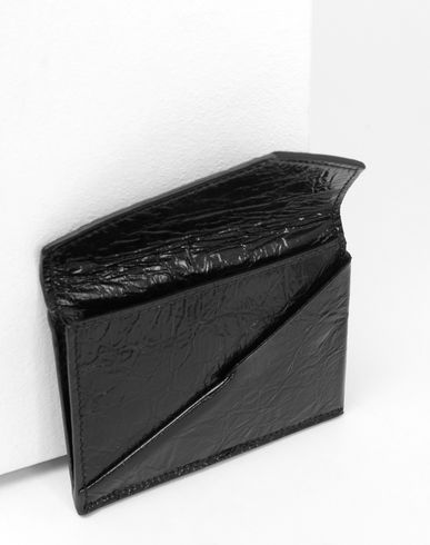 ACCESSORIES Japanese crinkled leather  cardholder Black