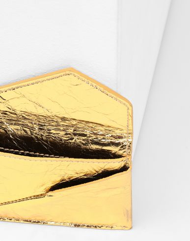 ACCESSORIES Japanese crinkled leather  cardholder Gold