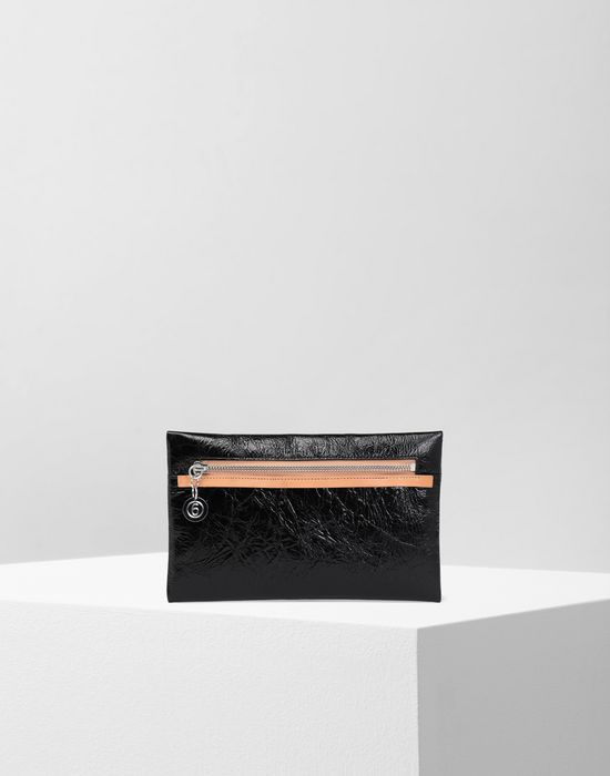 MM6 MAISON MARGIELA Crinkled leather zip pouch Wallet [*** pickupInStoreShipping_info ***] f
