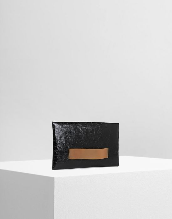 MM6 MAISON MARGIELA Crinkled leather zip pouch Wallet [*** pickupInStoreShipping_info ***] r
