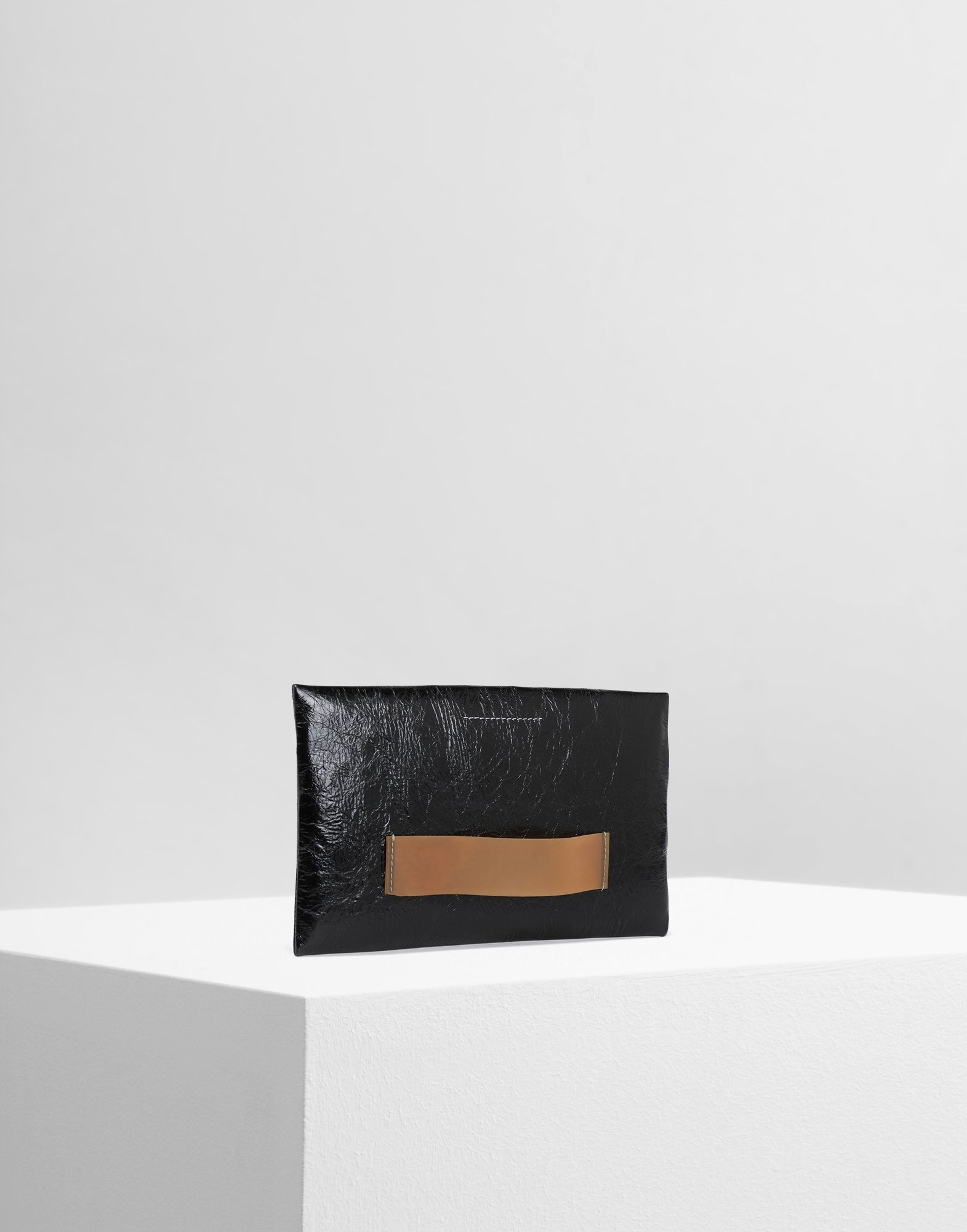 MM6 MAISON MARGIELA Crinkled leather zip pouch Wallets Woman r