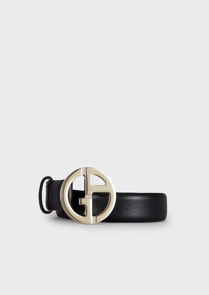 precio bajo vende elegir oficial Cinturón de piel granulada con logotipo GA de metal