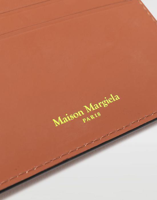 MAISON MARGIELA Logo-embossed leather cardholer Wallet [*** pickupInStoreShippingNotGuaranteed_info ***] a