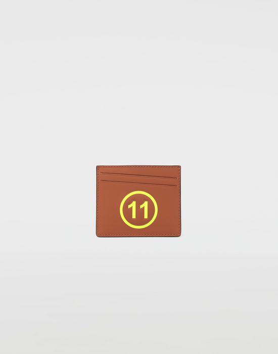 MAISON MARGIELA Logo-embossed leather cardholer Wallets [*** pickupInStoreShippingNotGuaranteed_info ***] f