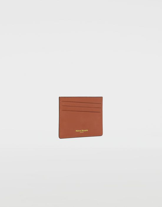MAISON MARGIELA Logo-embossed leather cardholer Wallet [*** pickupInStoreShippingNotGuaranteed_info ***] r