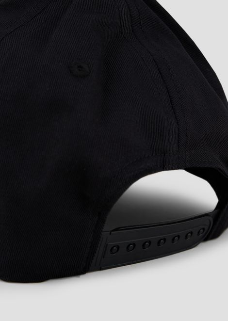 Baseball cap with doubled logo