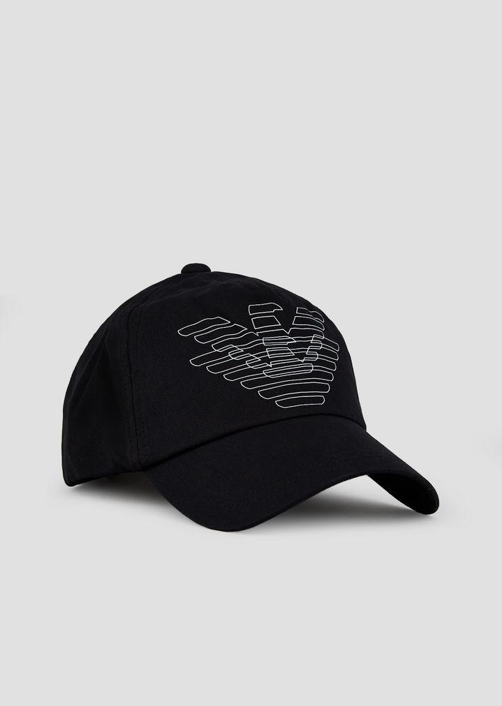 3d4d4130 Baseball cap with doubled logo | Man | Emporio Armani