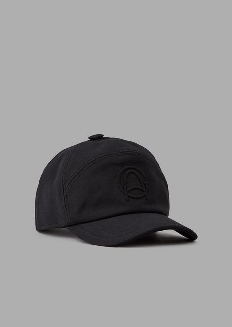 Cotton hat with peak and embroidered logo