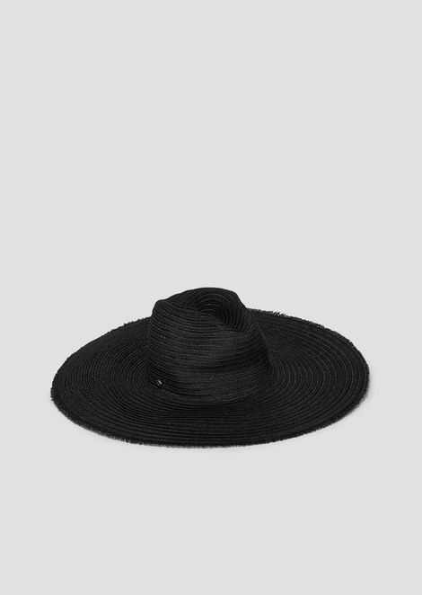 Wide-brimmed Fedora hat in hemp