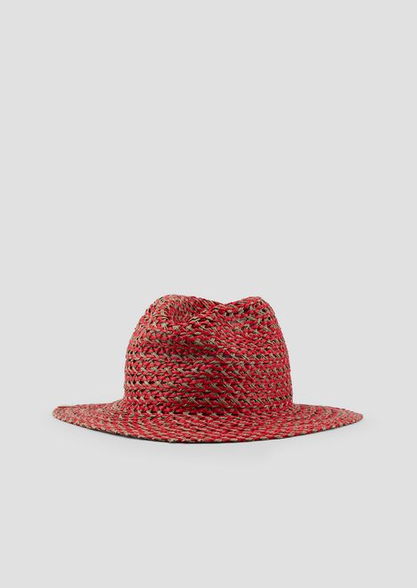 a5cadd60 Woven, wide-brimmed hat with triangular details