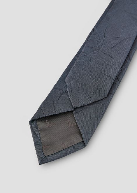 Tie in pure crinkle silk