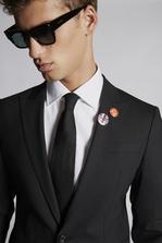 DSQUARED2 Red & Black Punk Pins Brooch Man