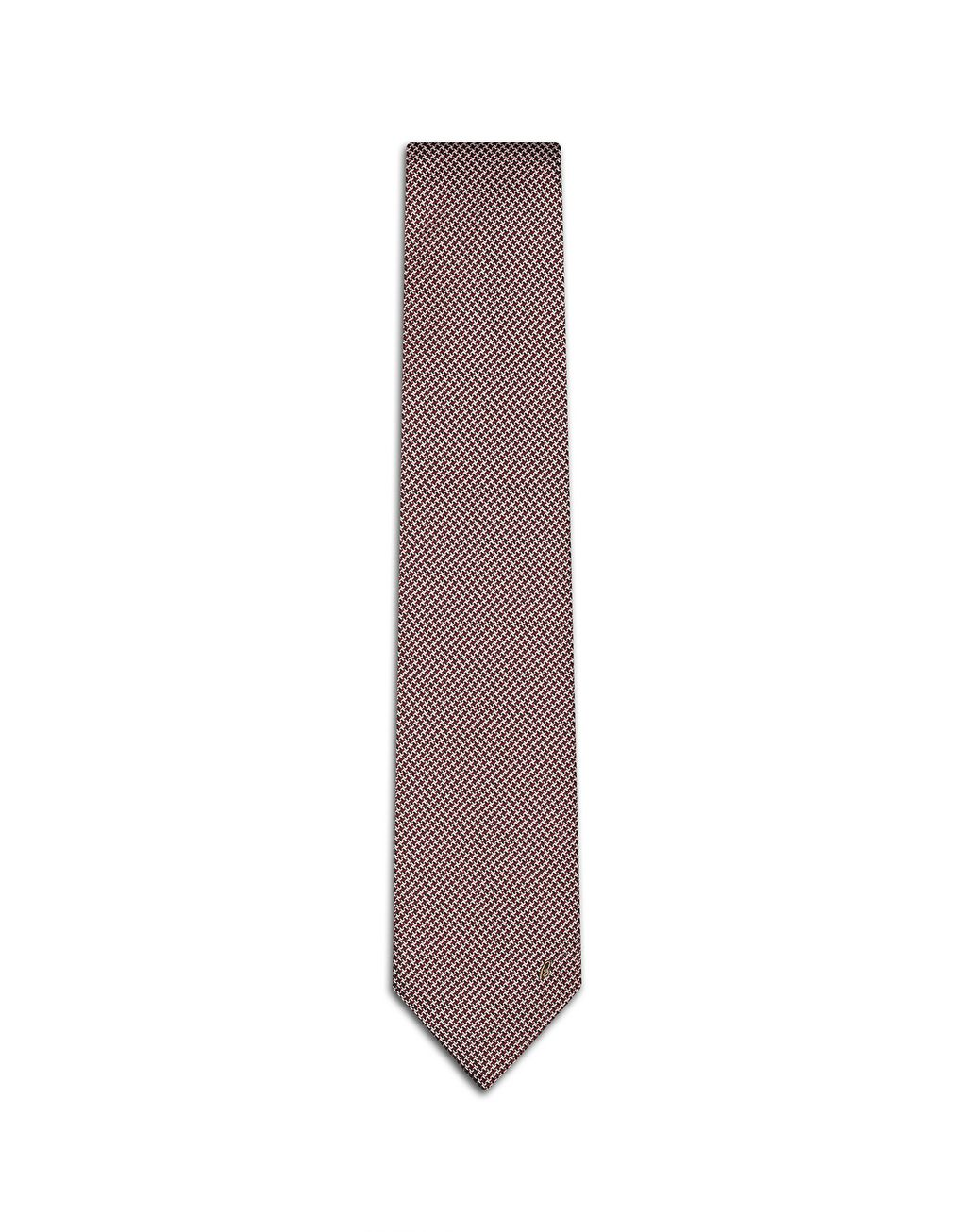 BRIONI Red and Pink Micro Design Tie Tie Man f