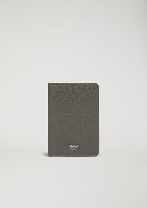 Porte-passeport en cuir liégé imprimé
