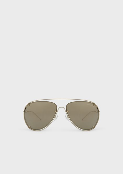 eb684d7512c5 Open Wire metal aviator sunglasses