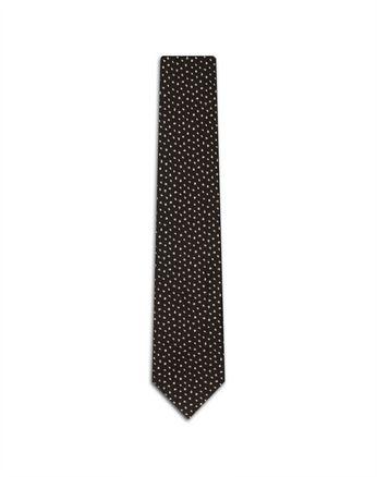 Коричневый галстук с переливчатым эффектом