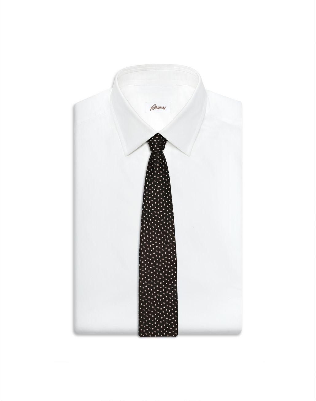 BRIONI Brown Peacock Tie Tie Man e