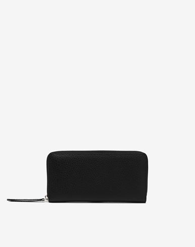 Small Leather Goods  Zip-around long wallet Black