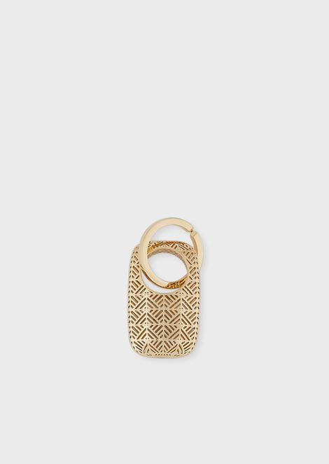 Oval-shaped Maru keychain in bronze with engraved logo