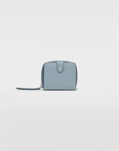 Small Leather Goods  Leather zip-around wallet Sky blue