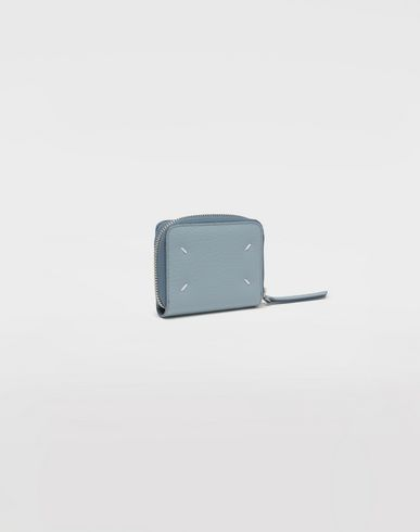 ACCESSORIES Leather zip-around wallet Sky blue
