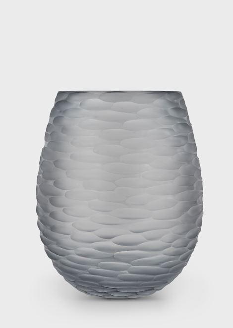 Vase Alcazar de forme ovale en verre de Murano