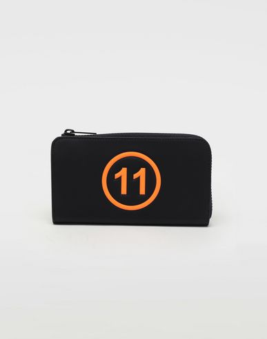 Logo-embossed long leather wallet